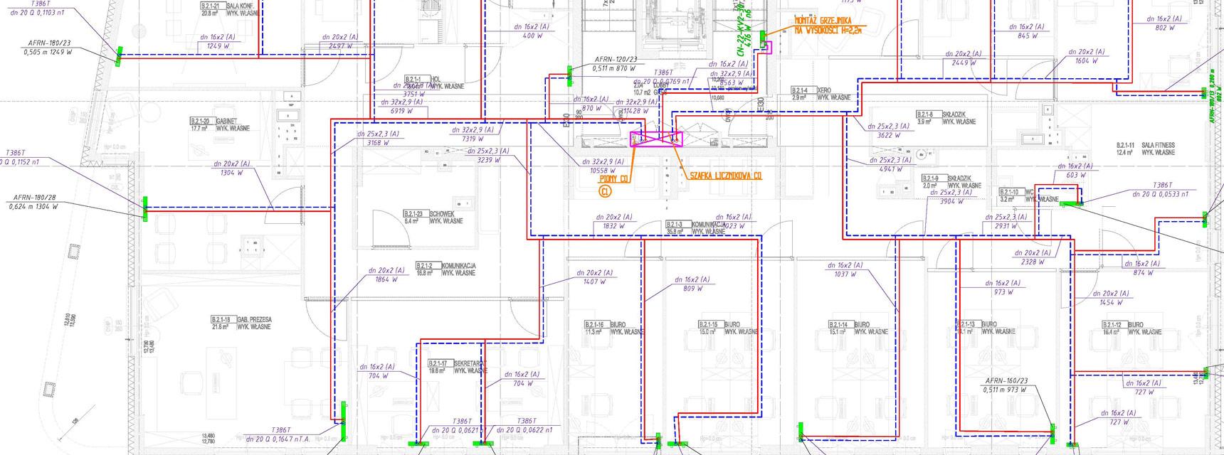projekt instalacji sanitarnej